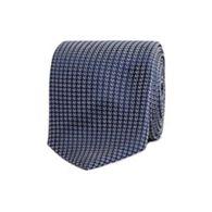 8e4c6f2e958f T.M.Lewin - Navy textured weave silk skinny tie