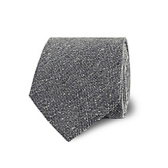 TM Lewin - Grey textured silk tie