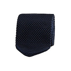 T.M.Lewin - Navy knitted silk tie