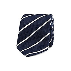 T.M.Lewin - Navy stripe slim silk tie