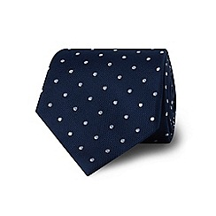 TM Lewin - Navy spotted silk tie