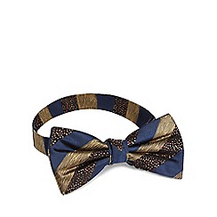Hammond & Co. by Patrick Grant - Navy silk stripe bow tie