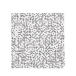 28ecab8942e Hammond   Co. by Patrick Grant - Black and white domino print pocket square