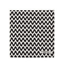 Hammond & Co. by Patrick Grant - Black and white zigzag print pocket square