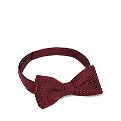 Red Herring - Maroon knitted bow tie