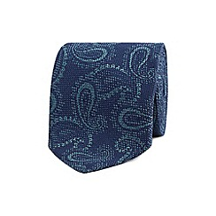 The Collection - Navy paisley print tie
