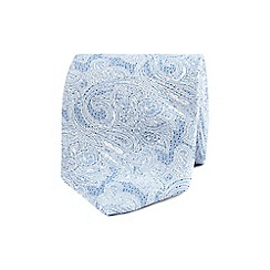 The Collection - Light blue floral textured tie