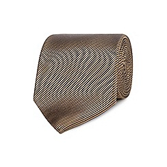 The Collection - Bronze textured stripe silk tie