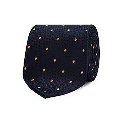 The Collection - Yellow geometric dot silk tie