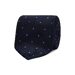 The Collection - Turquoise geometric dot silk tie