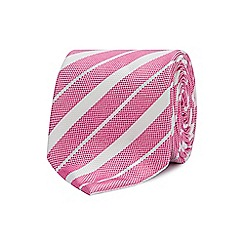 The Collection - Pink college stripe silk tie