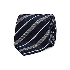 The Collection - Navy college stripe silk tie