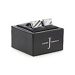 J by Jasper Conran - Silver and mother of pearl striped cufflinks in a gift box