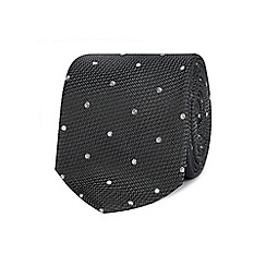 The Collection - Grey silk polka dot tie