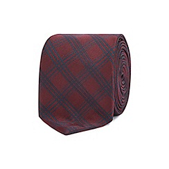 Red Herring - Multicoloured checked tie with tie clip