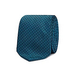 Red Herring - Turquoise geometric tie and clip