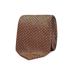 Red Herring - Gold geometric tie and clip