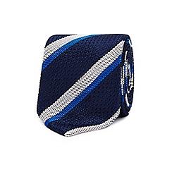 The Collection - Blue college stripe silk tie