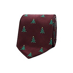 Red Herring - Wine red Christmas tree tie