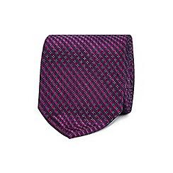 The Collection - Purple geometric diamond silk tie