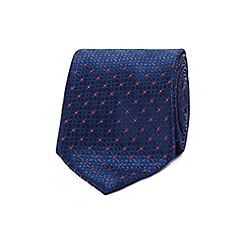 The Collection - Navy geometric floral tie