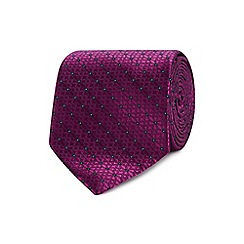 The Collection - Purple geometric floral tie
