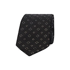Black Tie - Black diamond embroidered tie
