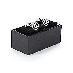 The Collection - Silver at sign cufflinks in a gift box