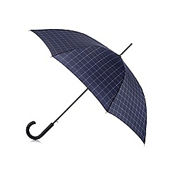 Fulton - Navy Shoreditch checked print umbrella