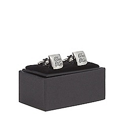 The Collection - Silver 'Best Man' engraved cufflinks