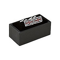 The Collection - Silver 'Union jack' cufflinks
