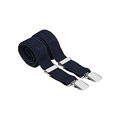 Osborne - Navy slim herringbone braces