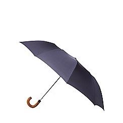 Fulton - Navy 'Dalston' gingham automatic umbrella