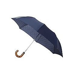 Hammond & Co. by Patrick Grant - Navy crook handle umbrella in a gift box