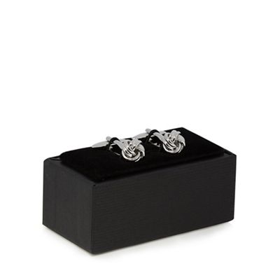 The Collection   Silver Knotted Cufflinks by The Collection