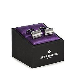 Jeff Banks - Grey rectangular bar cufflinks in a gift box
