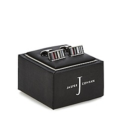 J by Jasper Conran - Red and mother of pearl striped cufflinks in a gift box