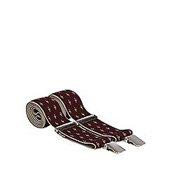 Osborne - Wine fleur de lys embroidered braces