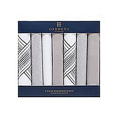 Osborne - Pack of seven grey handkerchiefs