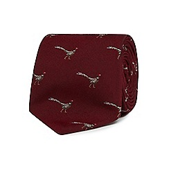 Hammond & Co. by Patrick Grant - Wine red pheasant print tie