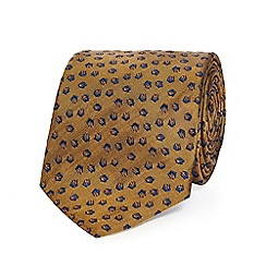 Hammond & Co. by Patrick Grant - Gold textured patterned silk tie