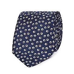 Hammond & Co. by Patrick Grant - Navy textured patterned silk tie