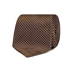 Hammond & Co. by Patrick Grant - Gold textured honeycomb tie
