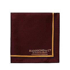 Hammond & Co. by Patrick Grant - Dark red silk pocket square