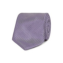 Jeff Banks - Purple silk striped tie