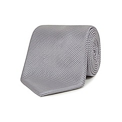 Jeff Banks - Silver silk striped tie