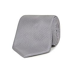 Jeff Banks - Silver silk striped tie