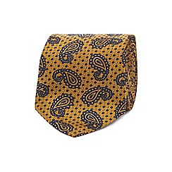 The Collection - Gold textured dot paisley tie