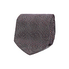 The Collection - Multi coloured basket weave textured regular tie