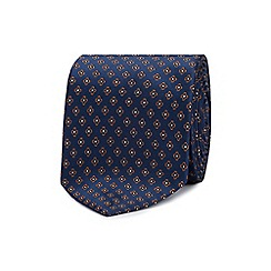 The Collection - Navy mini clover geometric print tie